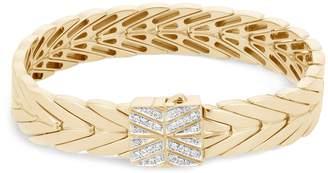 John Hardy 'Modern Chain' diamond 18k gold bracelet