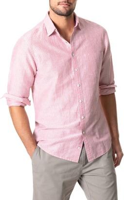 Rodd & Gunn Lynwood Stripe Linen & Cotton Button-Up Shirt