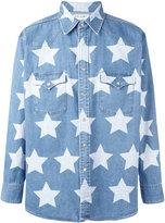Saint Laurent star print oversized shirt