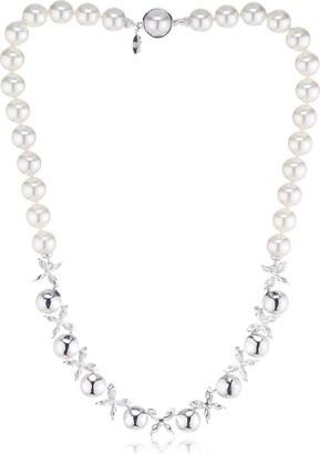 Majorica Novias 12516.01.2.000.010.1 High Lustre White 10.0 mm Round Mallorca Cultured Pearl 46.0 centimetres Sterling Silver 925 Necklace