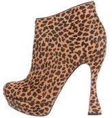 Alice + Olivia Ponyhair Leopard Print Booties