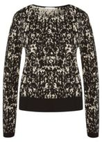 Hugo Boss Emka Cotton Abstract Intarsia Sweater S Patterned