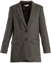 Vanessa Bruno Garisa notch-lapel herringbone wool blazer