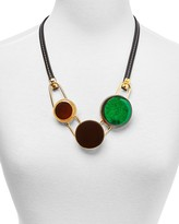 """Marni Horn & Resin Statement Necklace, 24"""""""