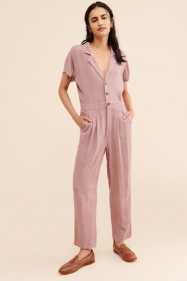 Free People Margot Short Sleeve Coveralls
