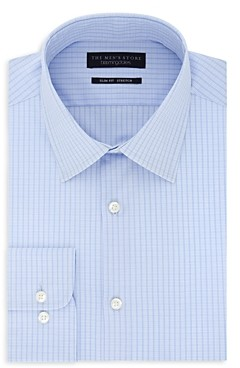 The Men's Store at Bloomingdale's Double-Checked Stretch Slim Fit Dress Shirt - 100% Exclusive