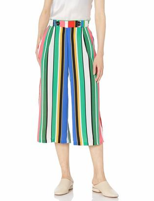 MSK Women's Cropped Stripe Pant