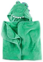 Carter's Alligator Puppet Hooded Towel in Green