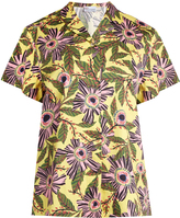 RED Valentino Passion flower-print stretch-cotton shirt