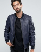Schott Leather Bomber Jacket