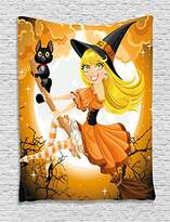 Halloween Decorations Tapestry Wall Hanging by Ambesonne