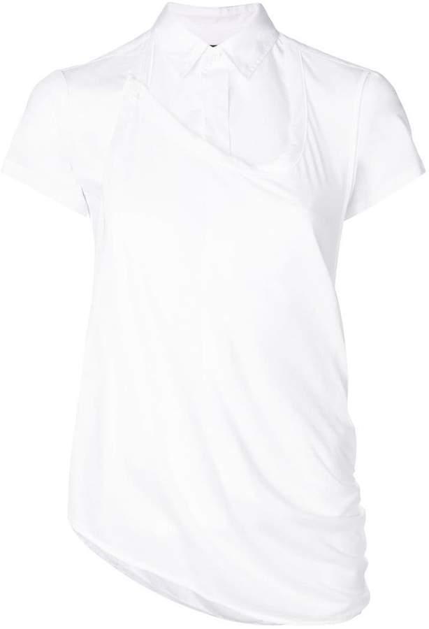 Y's poplin panel shirt