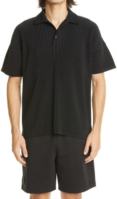 Homme Plissé Issey Miyake May Pleated Polo Shirt