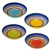 Certified International Tequila Sunrise 4-pc. Soup Bowl Set