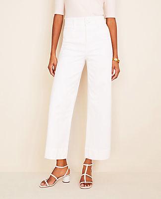 Ann Taylor Tall Wide Leg Crop Jeans