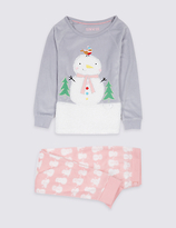 Marks and Spencer Snowman Pyjamas (9 Months - 8 Years)