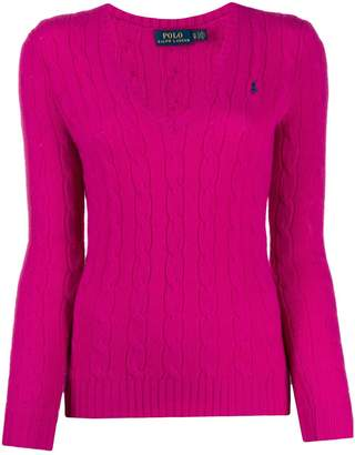 Polo Ralph Lauren v-neck cable knit sweater