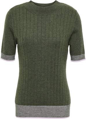 Tome Ribbed Wool And Cotton-blend Top