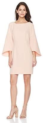 Suite Alice Women's Flare Sleeve Boat Neck Mini Length Dress