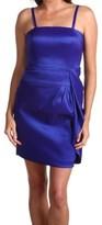 Calvin Klein Blue Luminous Taffeta Women Size 10 Sheath Dress