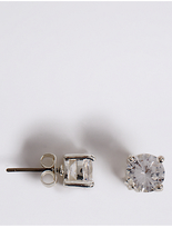 M&S Collection Silver Plated Crystal Stud Earrings