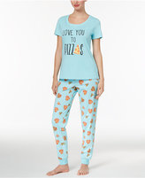 Family Pajamas Mommy & Me Women's Love You To Pizzas Pajama Set, Only at Macy's