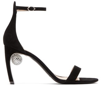 Nicholas Kirkwood Maeva Disco Ball-heeled Suede Sandals - Womens - Black