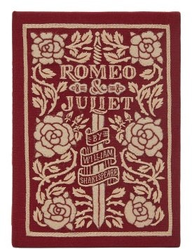 Olympia Le-Tan Romeo And Juliet Embroidered Book Clutch - Burgundy Multi