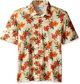 Margaritaville Mens Printed Paradise Polo