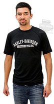 Harley-Davidson Mens Performance HD with B&S Mesh Short Sleeve T-Shirt - MD