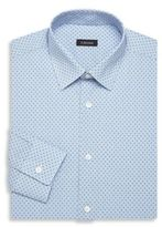 Z Zegna Mini Checkered Cotton Dress Shirt