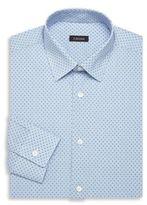 Z Zegna Mini Checkered Cotton Dress Shirt