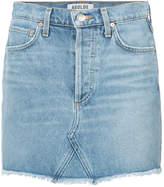 A Gold E Agolde denim fitted skirt