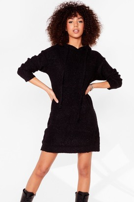 Nasty Gal Womens Don't Text-ure Your Ex Knitted Jumper Dress - Black - S
