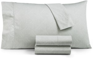 Hotel Collection Closeout! Etched Block California King Sheet Set, Created for Macy's Bedding