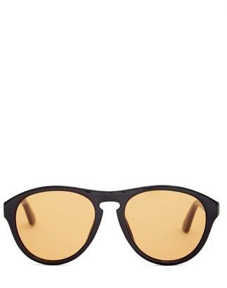 Gucci Round Acetate Sunglasses - Black