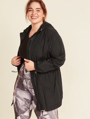 Old Navy Go-H20 Water-Resistant Hooded Plus-Size Anorak