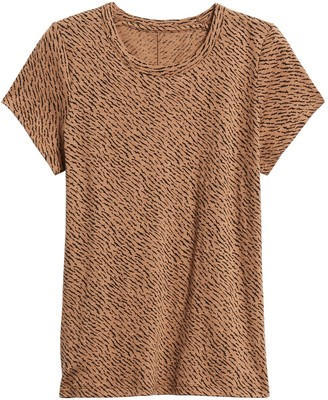 Banana Republic Petite Print Crew-Neck T-Shirt