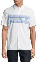 Black Brown 1826 Chest Stripe Sport Shirt