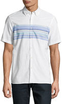 Black Brown 1826 Striped Short Sleeve Sport Shirt