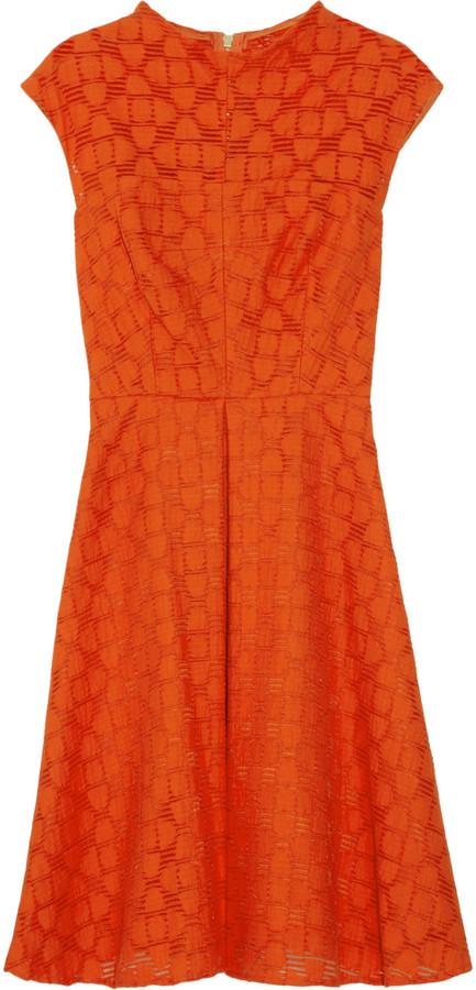 Milly Avery patterned cotton-blend dress