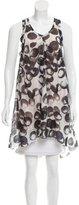 Vera Wang Printed Silk Tunic