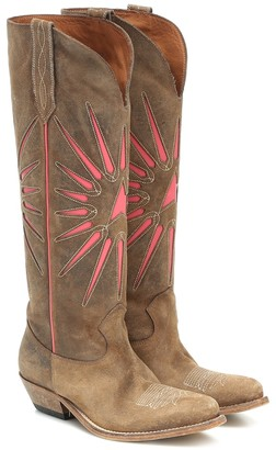 Golden Goose Wish Star suede cowboy boots