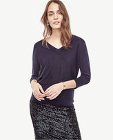 Ann Taylor Merino Wool V-Neck Sweater