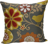 JCPenney 18 Jacquard Bird and Floral Print Decorative Pillow