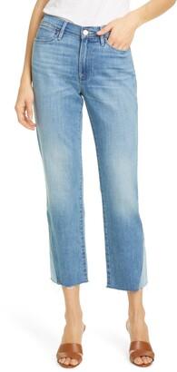 Frame Le High Straight High Waist Side Triangle Crop Jeans