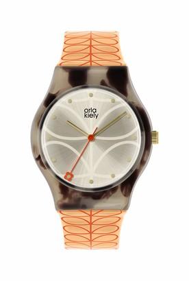 Orla Kiely Womens Analogue Classic Quartz Watch with Plastic Strap OK2310