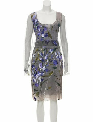 Dolce & Gabbana Silk Floral Print Dress w/ Tags Grey