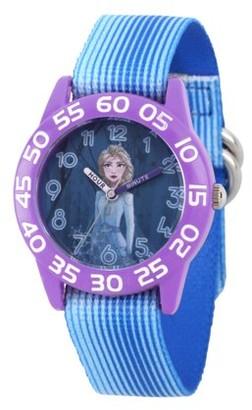 Disney Frozen 2 Elsa Girls' Purple Plastic Watch, 1-Pack