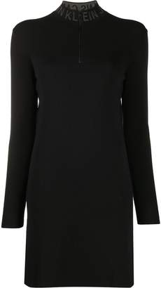 Calvin Klein Jeans logo collar knitted dress